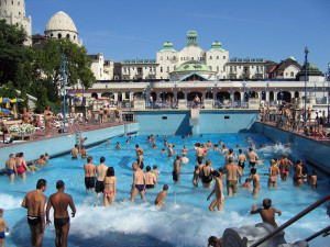 Men Dress Code Budapest Gellert Spa Outdoor Pool in Summer