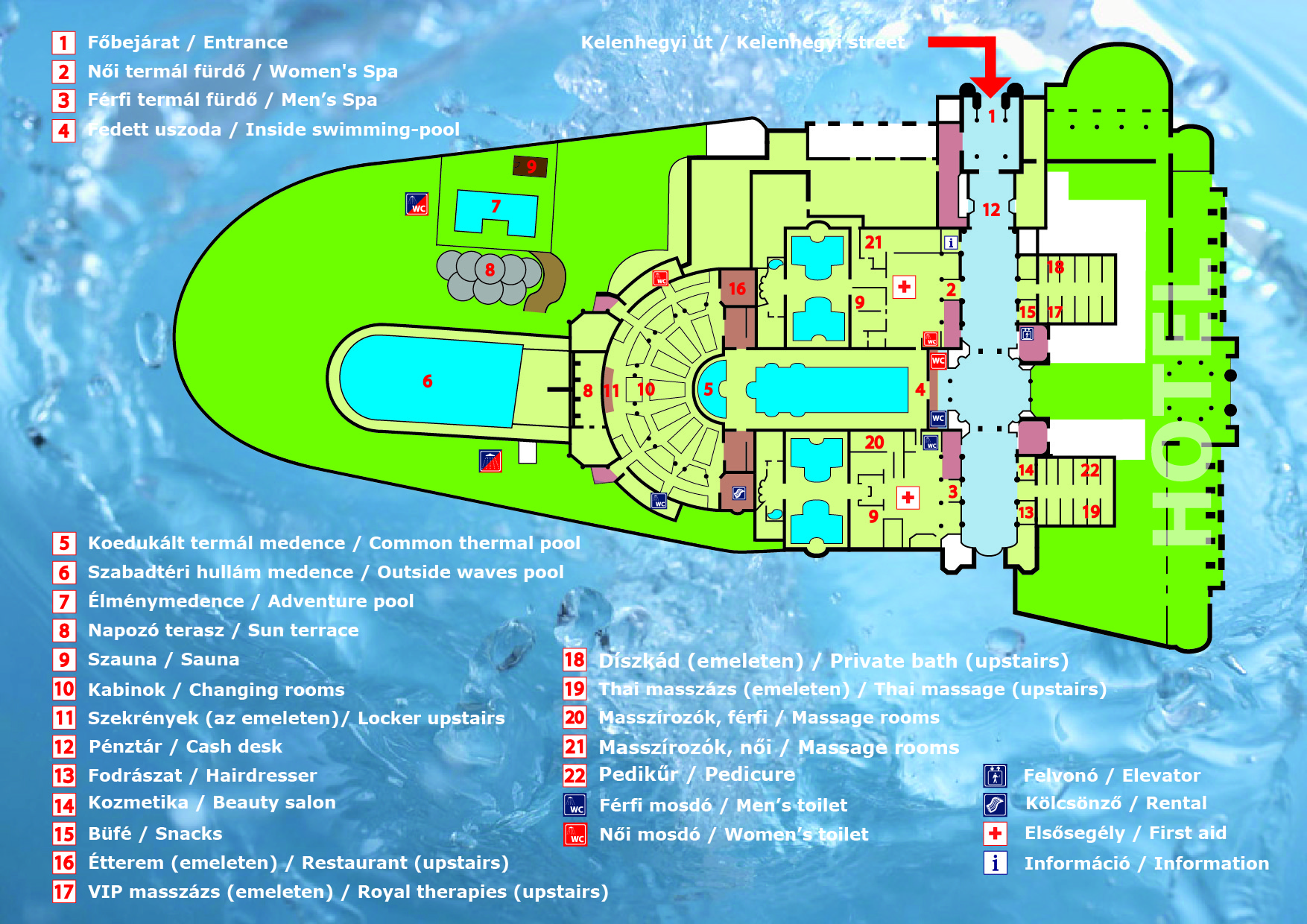 Gellert Spa Amp Thermal Baths Map