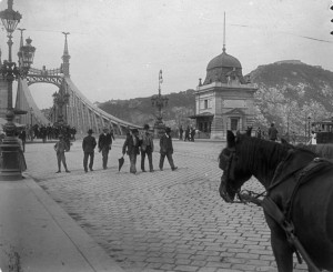 Liberty Bridge Budapest Gellert Hill 1900 Fortepan