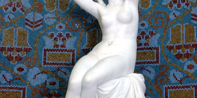 Gellert Spa and Thermal Bath Budapest Statue and Art Nouveau Wall